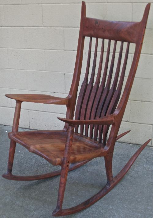 maloof style rocker to the left you see the finished rocker it is a ...